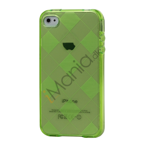 Image of   Ternet iPhone 4 4S TPU Cover - Grøn