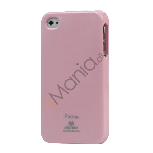 Image of   GlitterPulver TPU-Gummicover til iPhone 4 4S - Pink