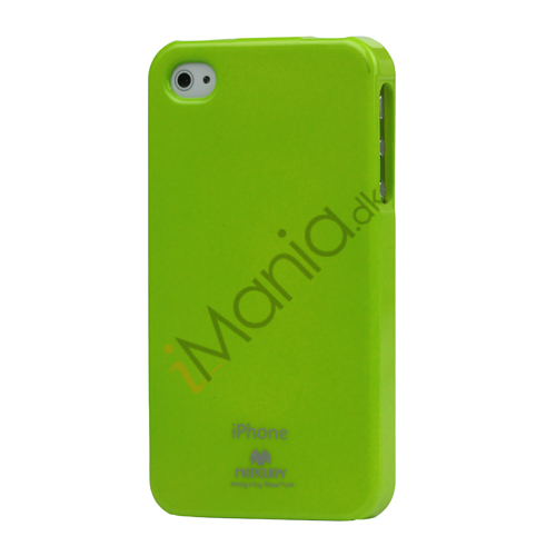Image of   GlitterPulver TPU-Gummicover til iPhone 4 4S - Grøn