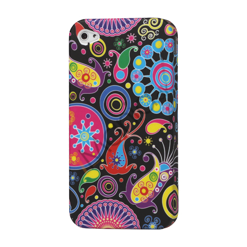 Image of   Farvelagt TPU Cover til iPhone 4 4S