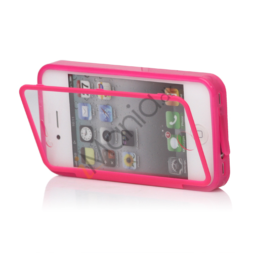 Image of   Dobbelt iPhone 4 / 4S Cover til både for- og bagside i TPU gummi - Rose, Rose