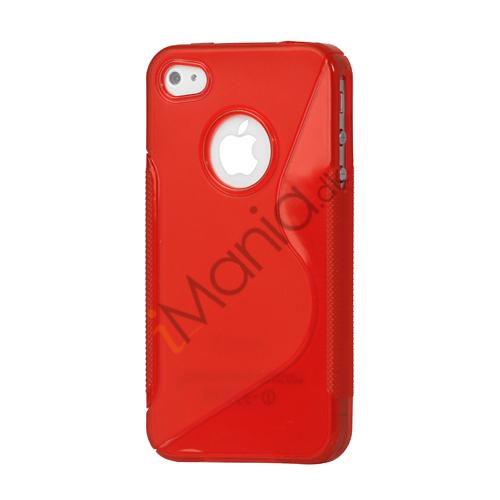 Image of   iPhone 4 cover med S-mønster - Rød