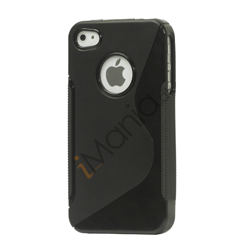Image of   iPhone 4 cover med S-mønster - Sort