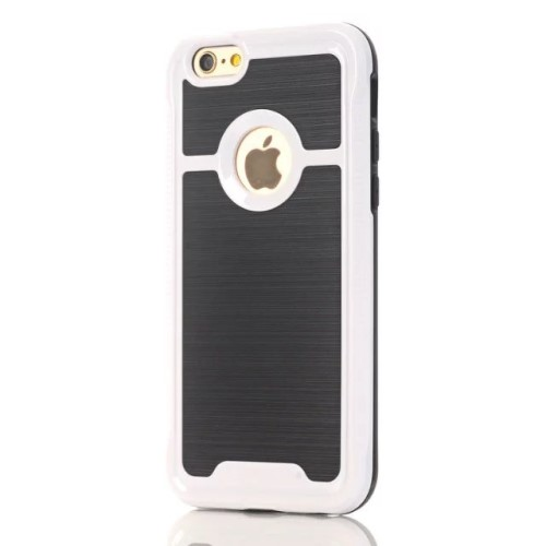 iPhone 7 kombi-cover PC/TPU, hvid
