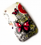 Luxus iPhone 3GS cover med sommerfugle