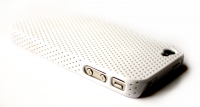 iPhone 4 / 4S cover perforeret hvid