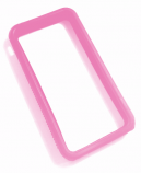 iPhone 4 bumper pink silikone