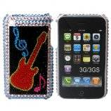 iPhone 3G bling cover med rød guitar