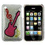 iPhone 3G bling cover med pink guitar