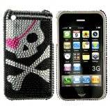 iPhone 3G bling cover med dødningehoved