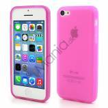 Mat Gennemsigtigt iPhone 5C TPU cover, pink