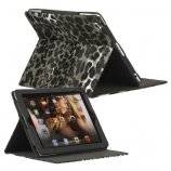 Leopard Folio Kunstlædertaske Holder til Den Nye iPad 2 3 4 - Sort