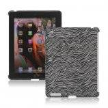 Flash Powder Zebra Smart Cover Companion Case til iPad 2. 3. 4. Gen - Sort
