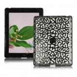Metalbelagt Hollow Flower Hard Case Cover til iPad 2 3 4 - Grå