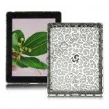 Metalbelagt Hollow Flower Hard Case Cover til iPad 2 3 4 - Sølv