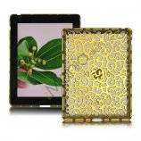 Metalbelagt Hollow Flower Hard Case Cover til iPad 2 3 4 - Guld