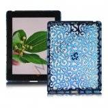 Metalbelagt Hollow Flower Hard Case Cover til iPad 2 3 4 - Blå