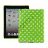 Polka Dot TPU Gel Case til Den Nye iPad 2. 3. 4. Gen - White / Green