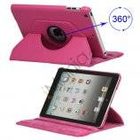 360 Degree Rotary Leather Case Cover til iPad Mini - Rose