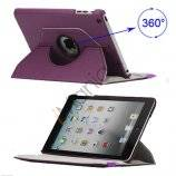 360 Degree Rotary Leather Case Cover til iPad Mini - Lilla