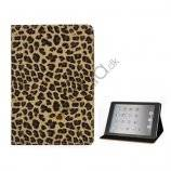 Leopard Skin PU Læder Taske Stand the iPad Mini - Brun