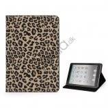 Leopard Skin PU Læder Taske Stand the iPad Mini - Light Brun
