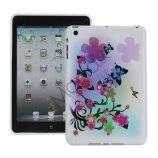 Beautiful Flowers and Butterflies TPU Gel Cover til iPad Mini