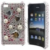 iPhone 4 / 4S bling cover lyserødt