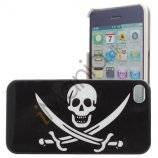 iPhone 4 / 4S cover med piratflag (Jolly roger)