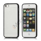 Frosted Plastic & TPU Hybrid Case iPhone 5 cover - Sort