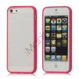 Frosted Plastic & TPU Hybrid Case iPhone 5 cover - Rose