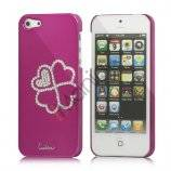 Kløver Cadmieret Diamant Case Cover til iPhone 5 - Rose