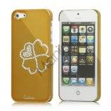 Kløver Cadmieret Diamant Case Cover til iPhone 5 - Gold