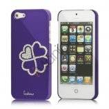 Kløver Cadmieret Diamant Case Cover til iPhone 5 - Violet Lilla