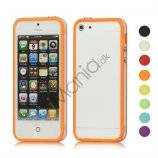 Gennemsigtig Plastic & TPU Combo Bumper Case iPhone 5 cover