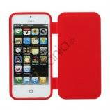 Dobbelt For- og bagside iPhone 5 TPU Gel Case Cover - Rød