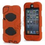 Stødsikkert Hybrid Hard Case til iPod Touch 5 med Beskyttelses Film - Sort / Orange